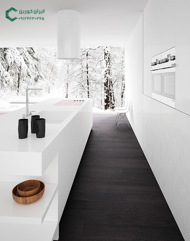 کورین سفید،صفحه کابینت کورین سفید