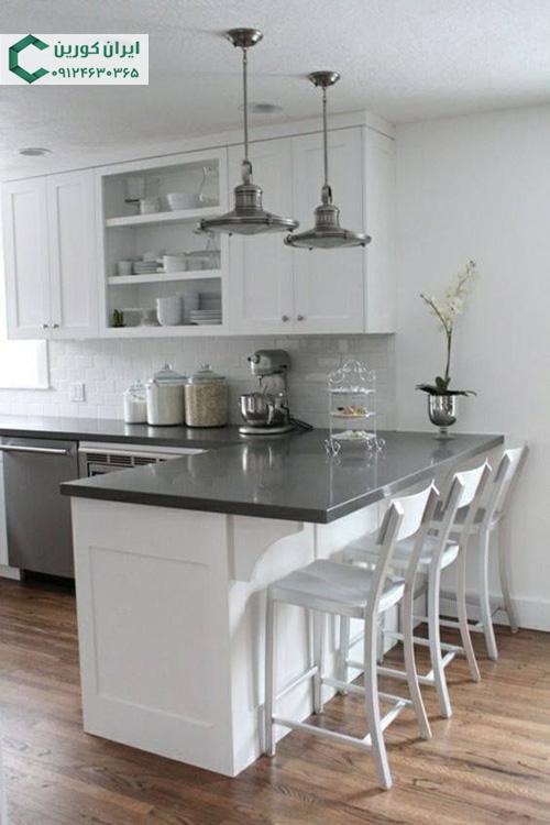 صفحه کورین جزیره،صفحه کورین کانتر آشپزخانه