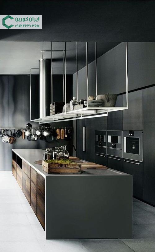 صفحه کورین ساده برای جزیره آشپزخانه