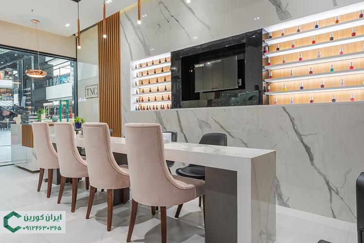 سنگ کوارتز برای کانتر و میز آرایشگاه و سالن زیبایی