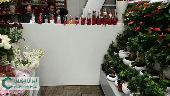 سنگ کورین سفید برای کانتر گل فروشی
