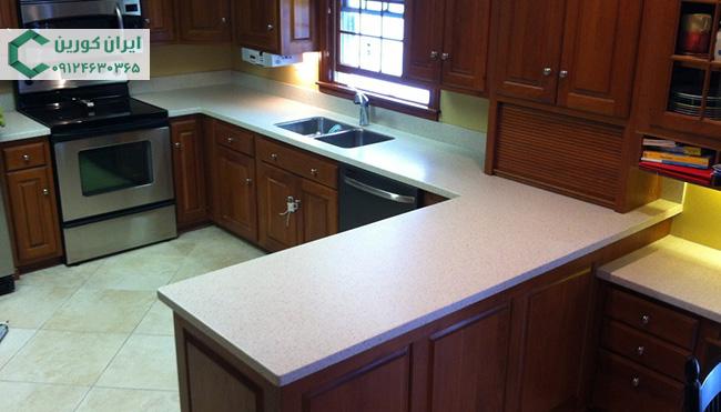 سنگ مصنوعی کوارتز سفید برای کانتر آشپزخانه