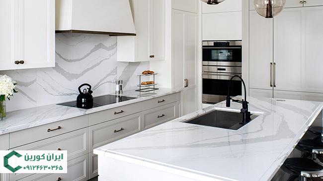 سنگ مصنوعی کوارتز رگه درشت برای کانتر آشپزخانه
