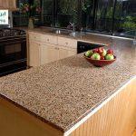 سنگ مصنوعی کوارتز قهوه ای دانه درشت برای کانتر آشپزخانه